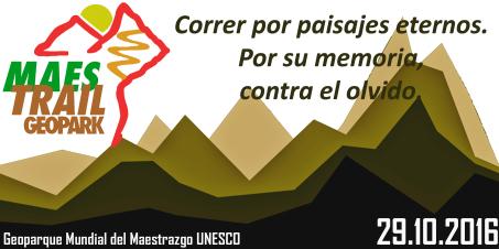 tercera edición geopark maestrail trail geoparque mundial maestrazgo unesco 29 octubre 2016