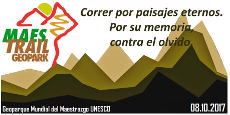 tercera edición geopark maestrail trail geoparque maestrazgo unesco 29 octubre 2016